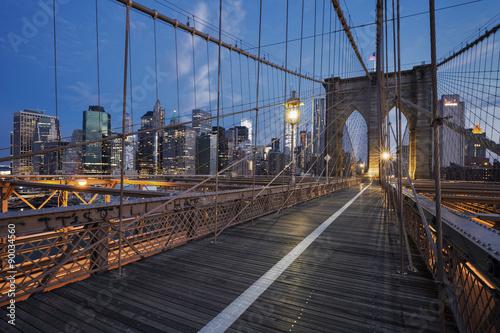 Fototapeta Brooklyn Bridge at sunrise