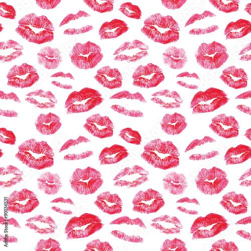 Tapety Glamour  wzor-czerwone-usta-pocalunki-drukuje-tlo