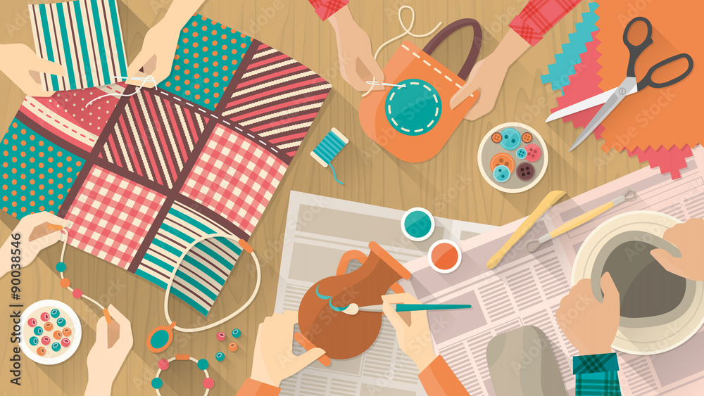Fototapety, obrazy: Hobby and crafts banner