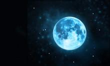 White Full Moon Atmosphere Wit...
