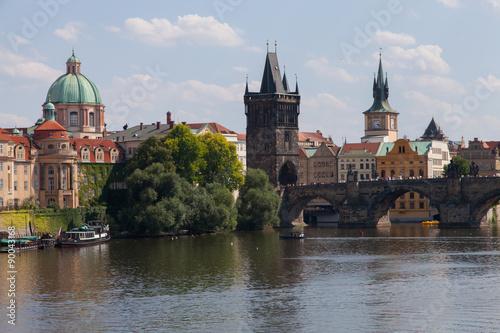 Photo sur Aluminium Prague Vielle ville de Prague - Pont Saint Charles