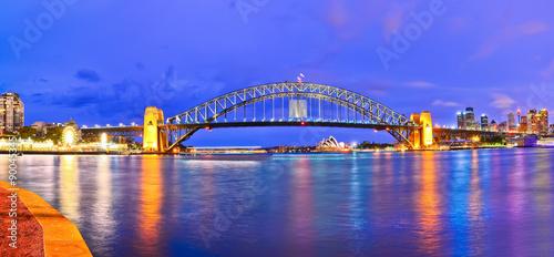 View of Sydney Harbor at night Fototapet