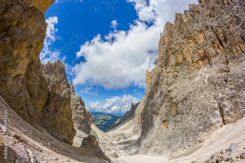 Fotografie, Obraz  Grupa sella, Dolomity