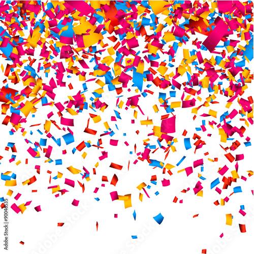 Fototapeta Confetti celebration background. obraz na płótnie