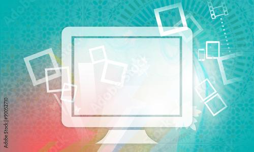 Sfondo Grafico Per Presentazione Monitor Pc Buy This Stock