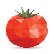 Vector Illustration Of A Tomato