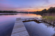 Sunset over Serene Water of a Lake