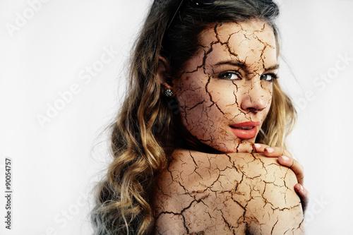 Obraz Cracked skin - fototapety do salonu