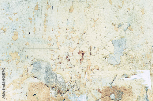 Deurstickers Oude vuile getextureerde muur grungy wall - Sandstone surface background