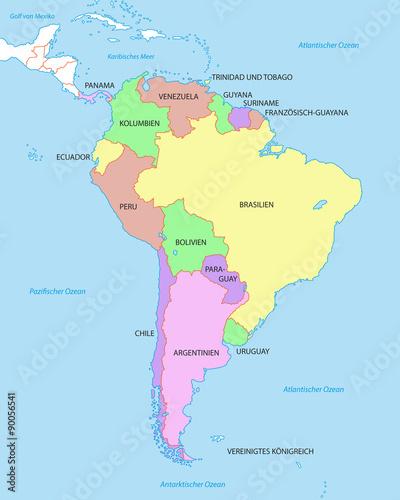 Sudamerika Karte Mit Landern Buy This Stock Vector And Explore