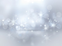 Silver Shining Christmas Background