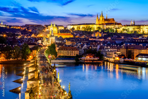 Foto op Plexiglas Praag Prague Castle and Charles Bridge, Czech Republic