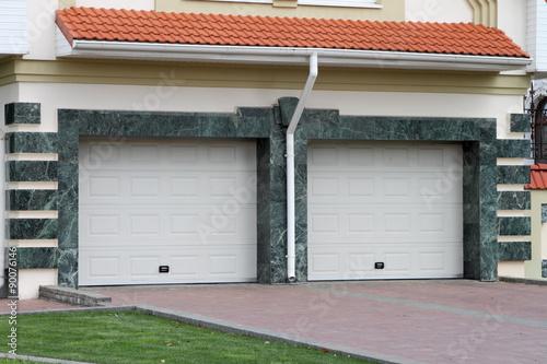 Garage door for 2 cars