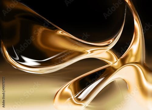 Fotografie, Obraz  liquid gold