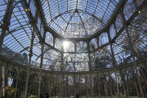 Aluminium Prints Train Station Palacio de cristal de Madrid