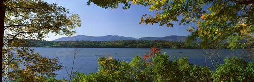 Hudson River In Autumn, Rhinebeck, New York #90084520