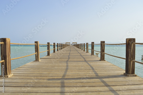 Fototapety, obrazy: Wooden jetty on a tropical island beach