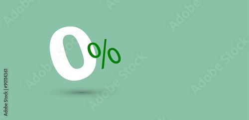 zero%, zero, saldi, sconti, risparmiare Fototapeta