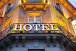 Leinwanddruck Bild - Hotel sign