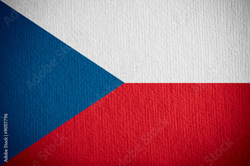 flag of Czech Fotobehang