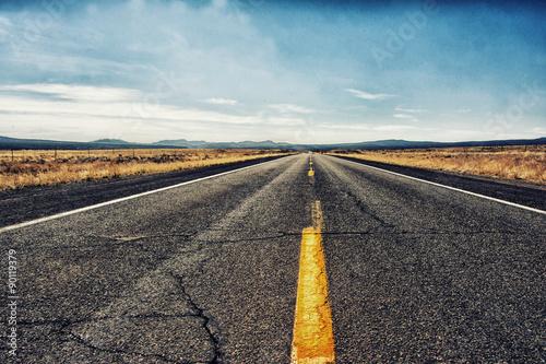 In de dag Route 66 Strasse nach...