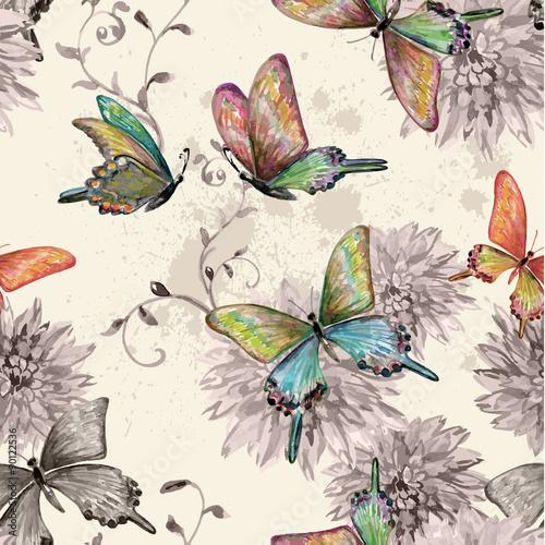 vintage-bezszwowych-tekstur-z-latajacych-motyli-akwarela