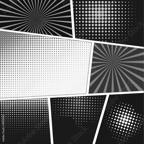 Photo  Comics popart style blank layout template