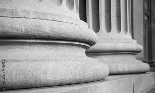 Architectural Columns in a Classic Federal Buuilding Obraz na płótnie