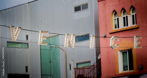 Foto op Plexiglas Venetie Sign at the entrance to the Venice Boardwalk in California