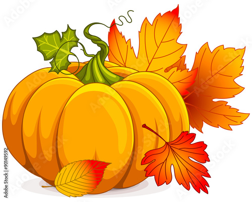 Canvas Prints Fairytale World Autumn Pumpkin