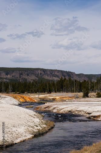 Fotobehang Natuur Park Stream through Yellowstone National Park