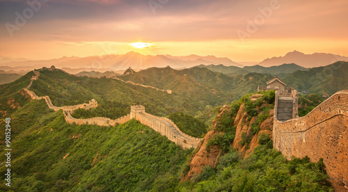 Ingelijste posters Peking Great Wall
