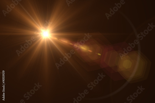 Obraz digital lens flare - fototapety do salonu