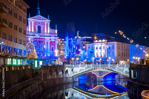 Ljubljana in Chirstmas decoration
