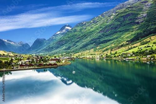 Norwegian fjords - seascape, Norway.