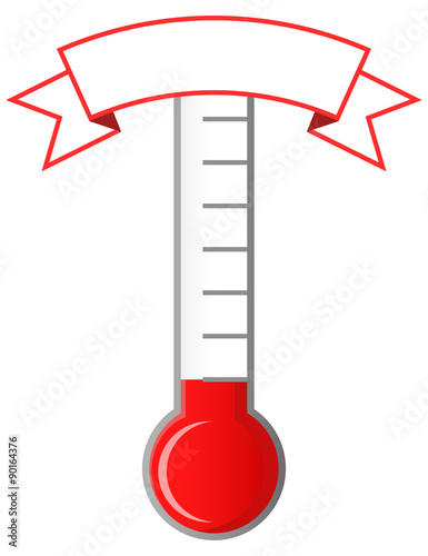 Fototapeta Achievement thermometer with blank banner