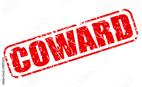 Photo Coward red stamp text