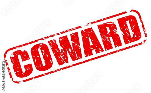 Coward red stamp text Wallpaper Mural