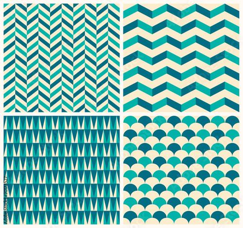 kolekcja-vintage-wzor-zestaw-czterech-bezszwowych-wzorow-z-geometrycznymi-motywami
