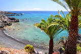 Fototapeta Fototapety z morzem do Twojej sypialni - Przepiękna turkusowa plaża w Alcali na Teneryfie