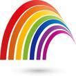 Regenbogen Logo, Farbig, Spektrum