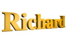 3D Richard Text On White Background