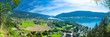 canvas print picture - Panorama Ossiacher See, Österreich
