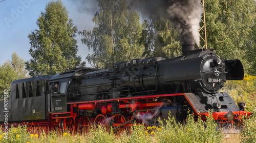 fototapeta na drzwi i meble schöne alte dampflok, dampflokomotive