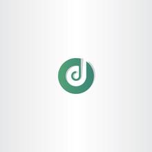 Dark Green Letter D Logotype Icon Element