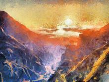 Sunrise In Mountains Impressio...