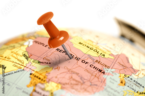 Location China. Red pin on the map.