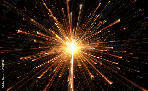 Valokuva  Star explosion with particles