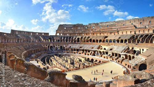 Foto Rom Kolosseum Panorama Innenansicht innen –Rome Colosseum Panoramic View