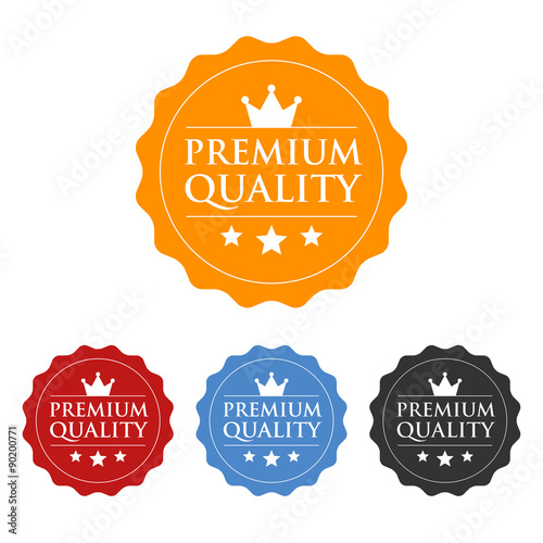 Premium quality seal or label flat icon Wallpaper Mural